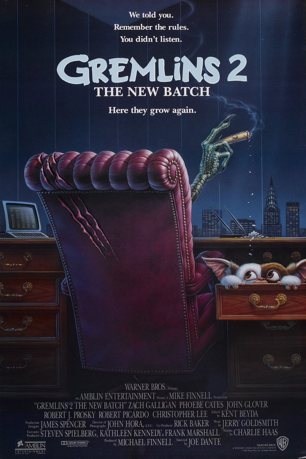 Gremlins 2 : The New Batch (1990) Original A4 Movie Poster Print (Reprint:1770) FREE SHIPPING