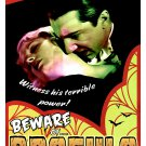 Dracula Movie (1931) Vintage A4 Laminated Movie Poster Print  Horror Wall Art