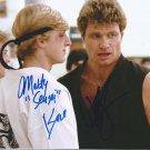 "The Karate Kid cast x 2 William Zabka & Martin Kove 8 x 10"" Autographed Photo (Reprint 2230)"