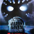 Jason Lives Friday the 13th Part VI (1986) Vintage A4 Glossy Movie Poster Print Horror Wall Art