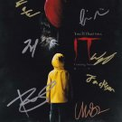 Stephen Kings IT (2017) 8 x 10 Poster Print signed by Cast x 7 (Reprint) FREE SHIPPING