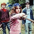 Harry Potter Cast  x 3 Autographed Photo: Radcliffe, Watson & Grint (Reprint:2278)
