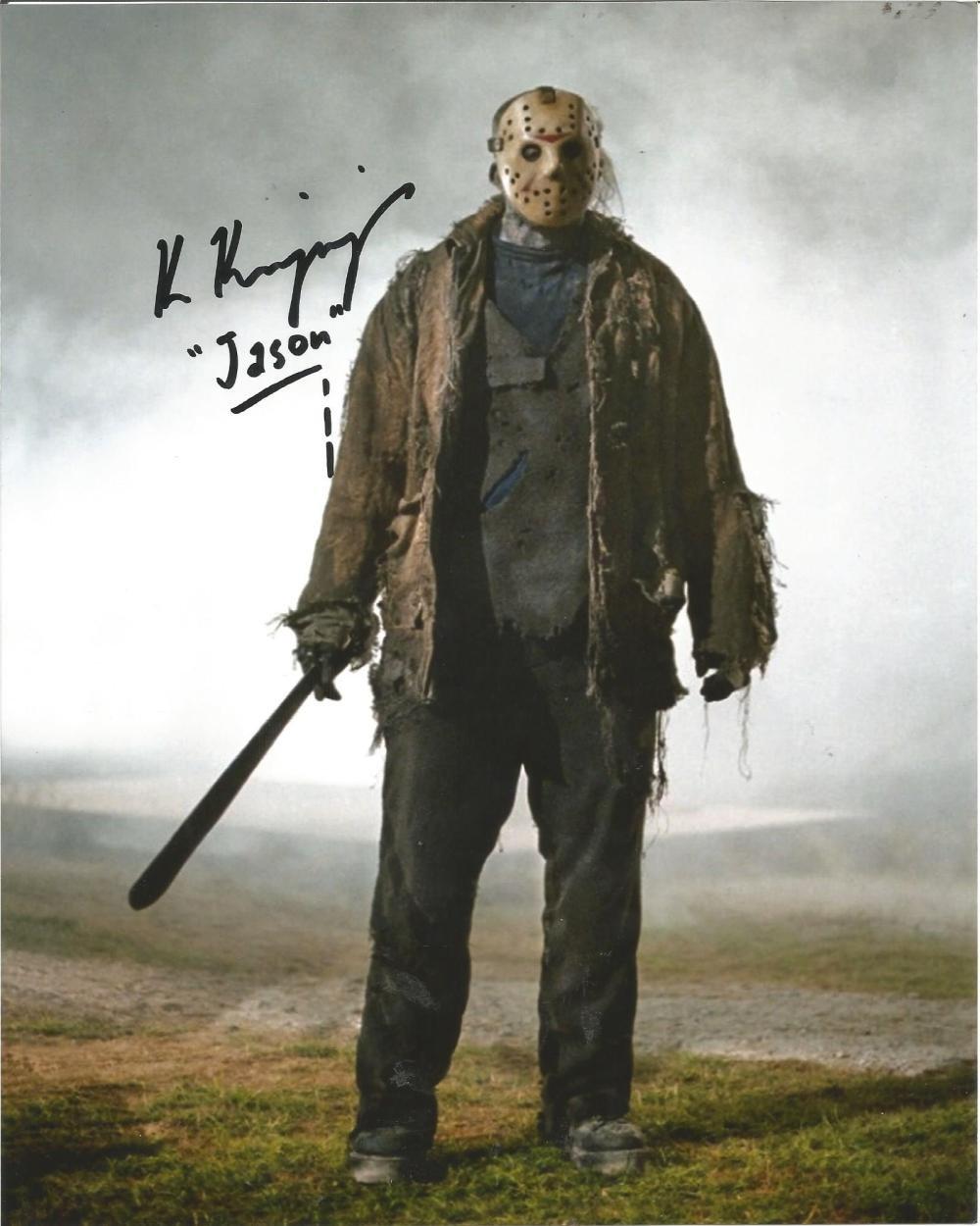 "Ken Kirzinger Freddy Vs Jason 8 x 10"" Autographed / Signed Photo (Reprint:2279)"