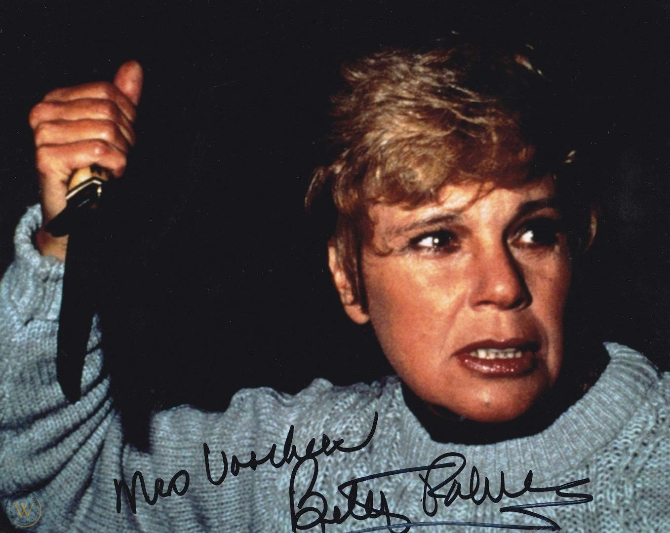 """Betsy Palmer Mrs Voohrees (Friday the 13th ) 8 x 10"""" Autographed Photo (Reprint:2296)"""