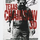 "Dan Yeager Signed 8 x 10"" Texas Chainsaw Massacre 3D  Poster Print (Reprint:2314)"