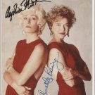 The Grifters Cast x 2 Autographed Photo Annette Bening & Anjelica Huston  (Reprint)