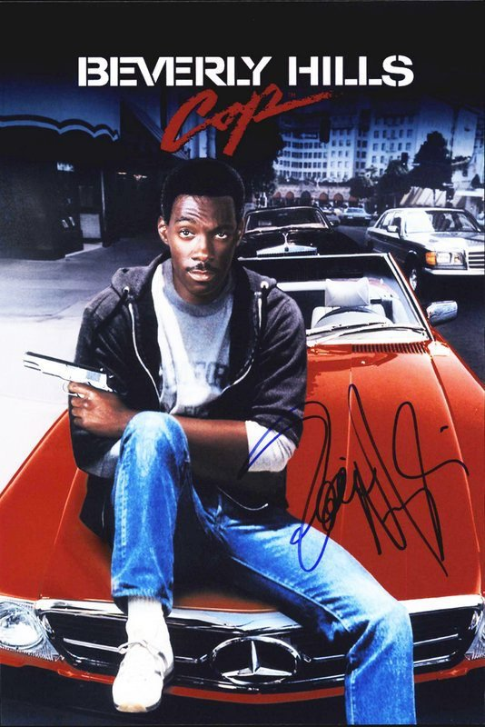 """Eddie Murphy signed 8 x 10"""" Beverly Hill Cops Publicity Photo  (Reprint: 2331)"""