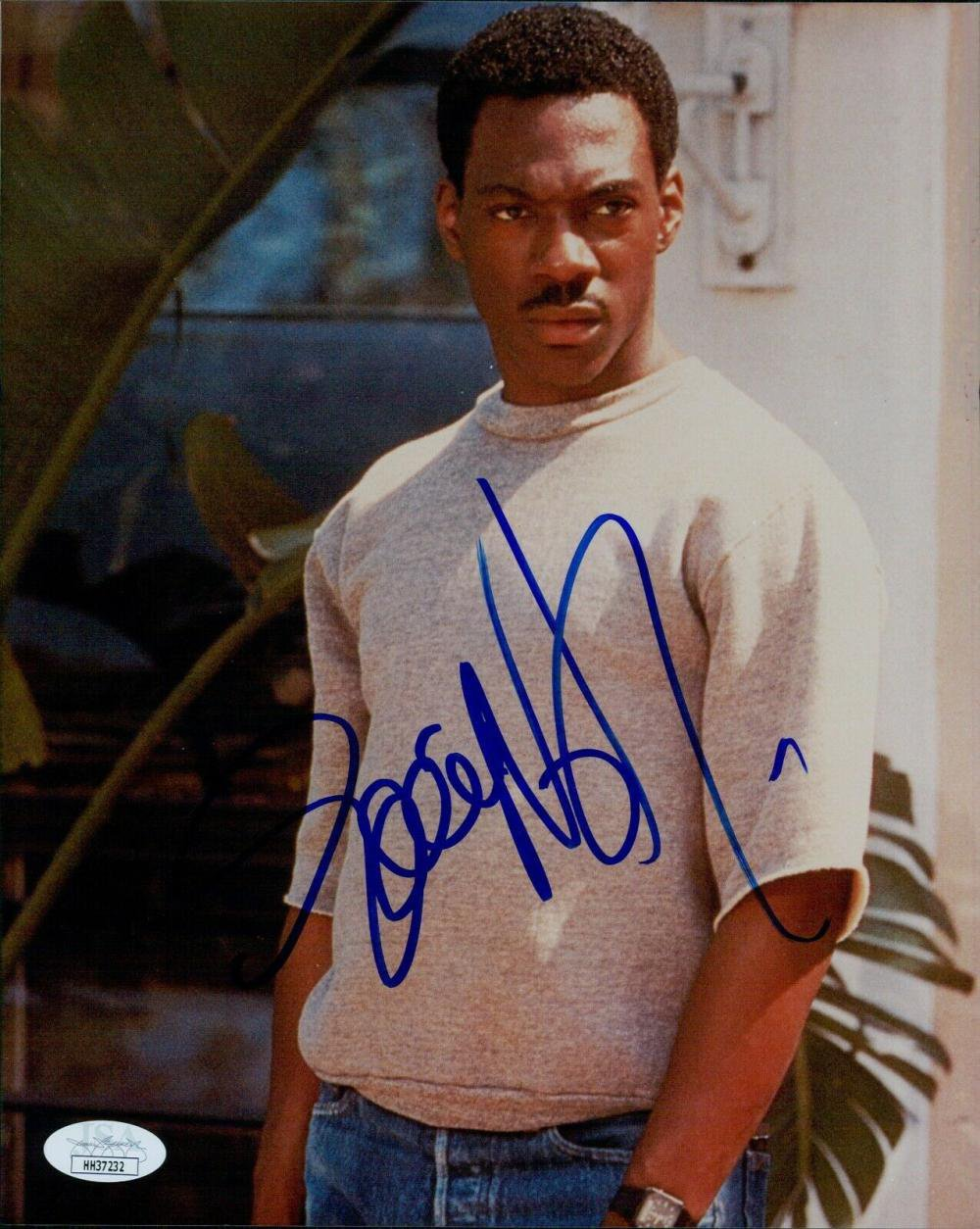 """Eddie Murphy signed 8 x 10"""" Beverly Hill Cops Publicity Photo  (Reprint: 2332)"""