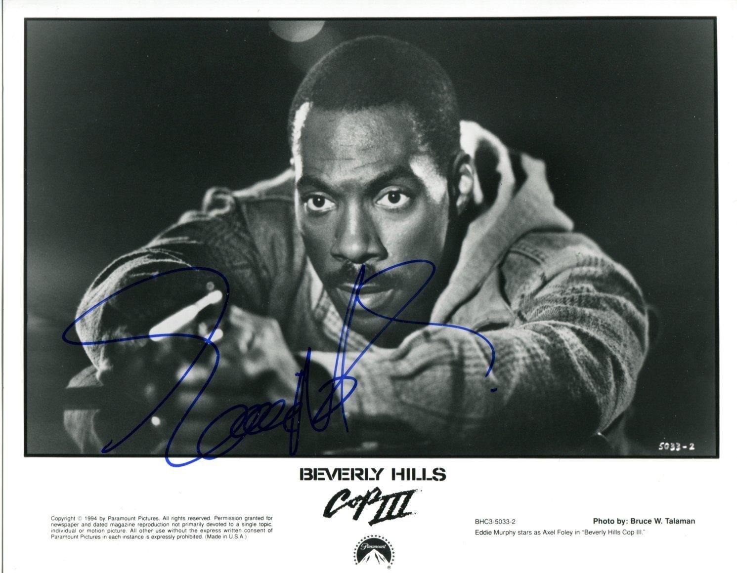 "Eddie Murphy signed 8 x 10"" Beverly Hills Cops Black & White Publicity Photo (Reprint: 2333)"