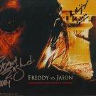 "Ken Kirzinger & Robert Englund Freddy Vs Jason 8 x 10"" Signed/  Autographed Photo (Reprint:1762)"