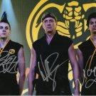 Cobra Kai Cast x 3 Zabka, Mariduena & Bertrand Autographed Photo Cobra Kai (Reprint 3000)