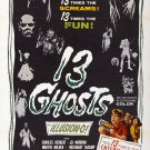 13 Ghosts (1960) A4 Movie Poster Print   Horror Movie Poster