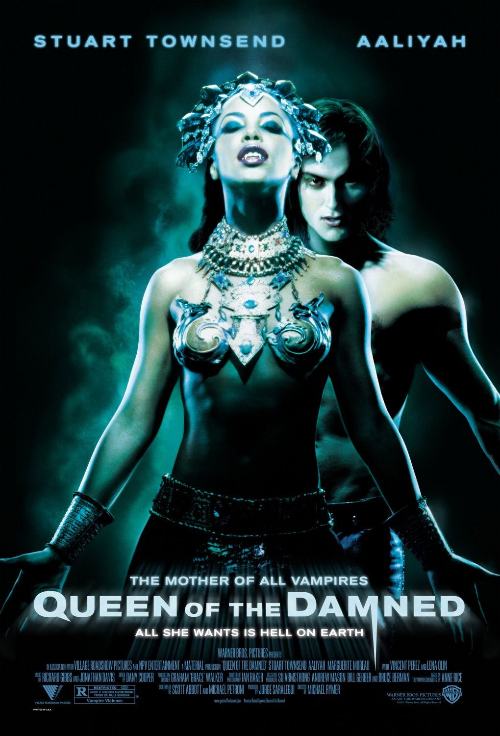 Queen of The Damned (2002) A4 Movie Poster Print | Horror Movie Posters | Wall Art