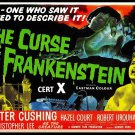 The Curse Of Frankenstein A4 Movie Poster  Print | Wall Art | Horror Movie Posters