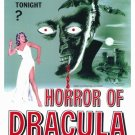 Horror Of Dracula A4 Movie Poster Print   Wall Art   Horror Movie Posters   Collectibles