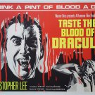 Taste The Blood Of Dracula (Staring Christopher Lee) A4 Movie Poster Print   Wall Art