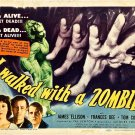 I Walked With A Zombie A4 Movie Poster Print   Horror Movie Posters   Wall art