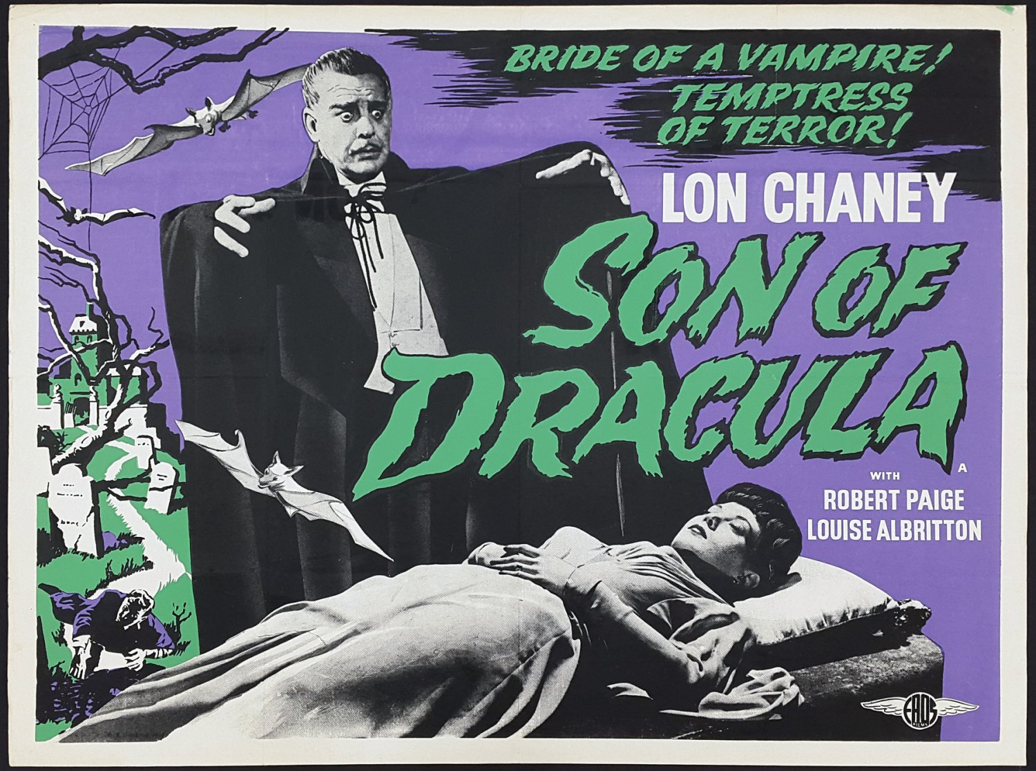 Son of Dracula A4 Movie Poster Print | Horror Movie Posters | Wall Art | Version 1