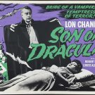 Son of Dracula A4 Movie Poster Print   Horror Movie Posters   Wall Art   Version 1