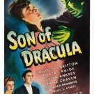 Son of Dracula A4 Movie Poster Print | Horror Movie Posters | Wall Art | Version 2