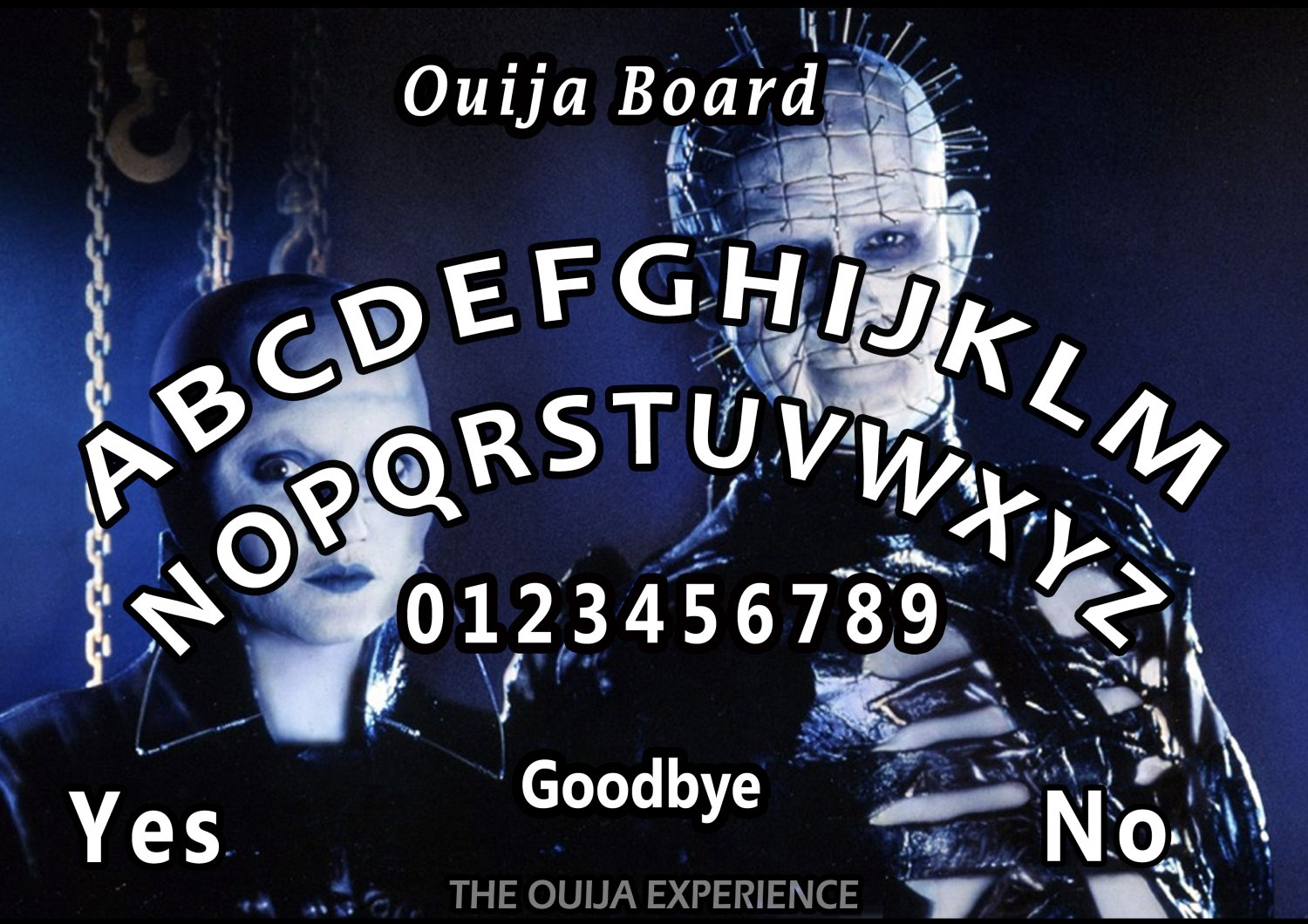 Limited Edition Hellraiser A4 Laminated Ouija Board / Poster    Ghost Hunting   EVP   Seances