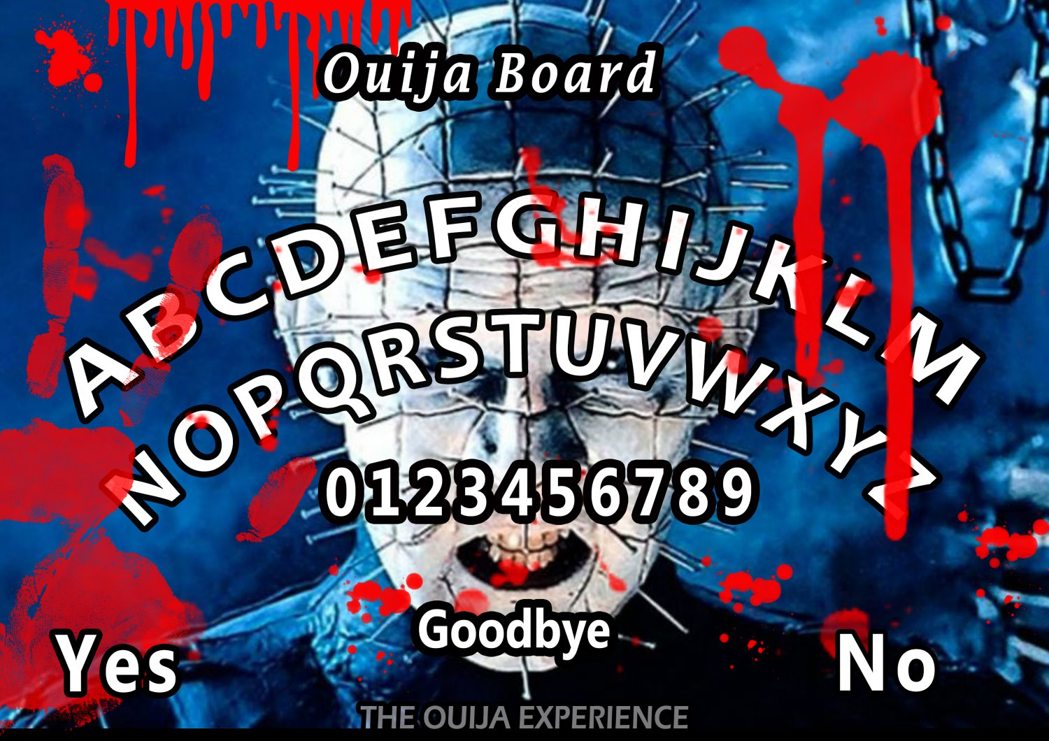 Limited Edition Hellraiser A4 Laminated Ouija Board / Poster    Ghost Hunting   EVP   Seances No.2