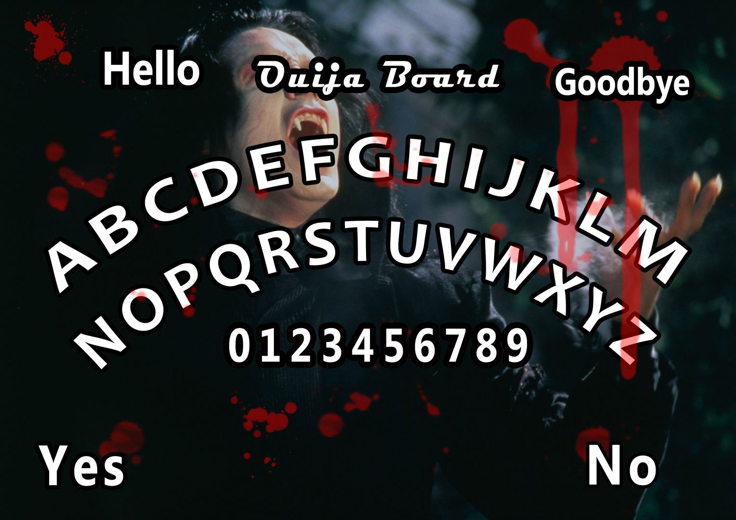 Limited Edition Dracula A4 Laminated Ouija Board / Poster | Ghost Hunting | EVP | Seances.