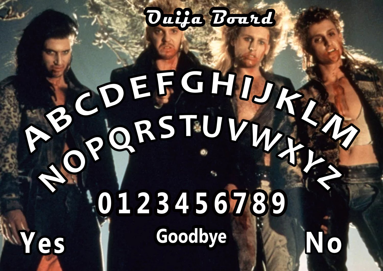 The Lost Boys A4 Laminated Ouija Board / Poster   Ghost Hunting   EVP   Seances. No.1
