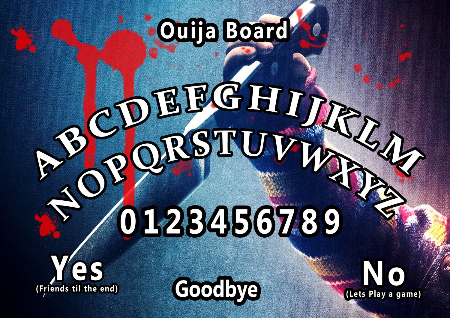 Child's Play 2010 A4 Laminated Ouija Board / Poster | Ghost Hunting | EVP | Seances
