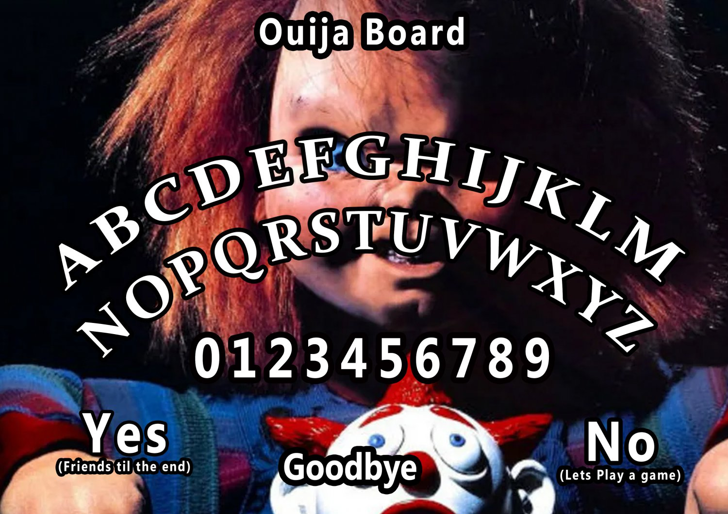 Child's Play 2 A4 Laminated Ouija Board / Poster | Ghost Hunting | EVP | SeancesGreat Gift Idea!