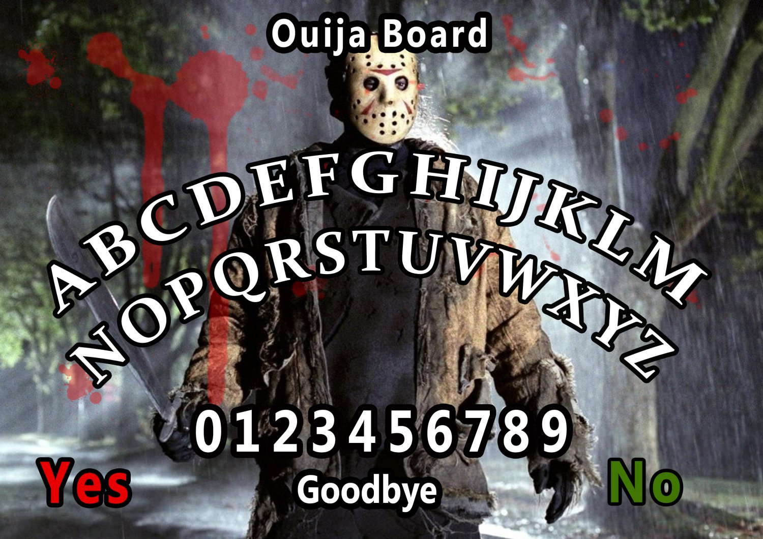 Friday The 13th A4 Laminated Ouija Board / Poster   Ghost Hunting   EVP   Seances. Free UK shipping
