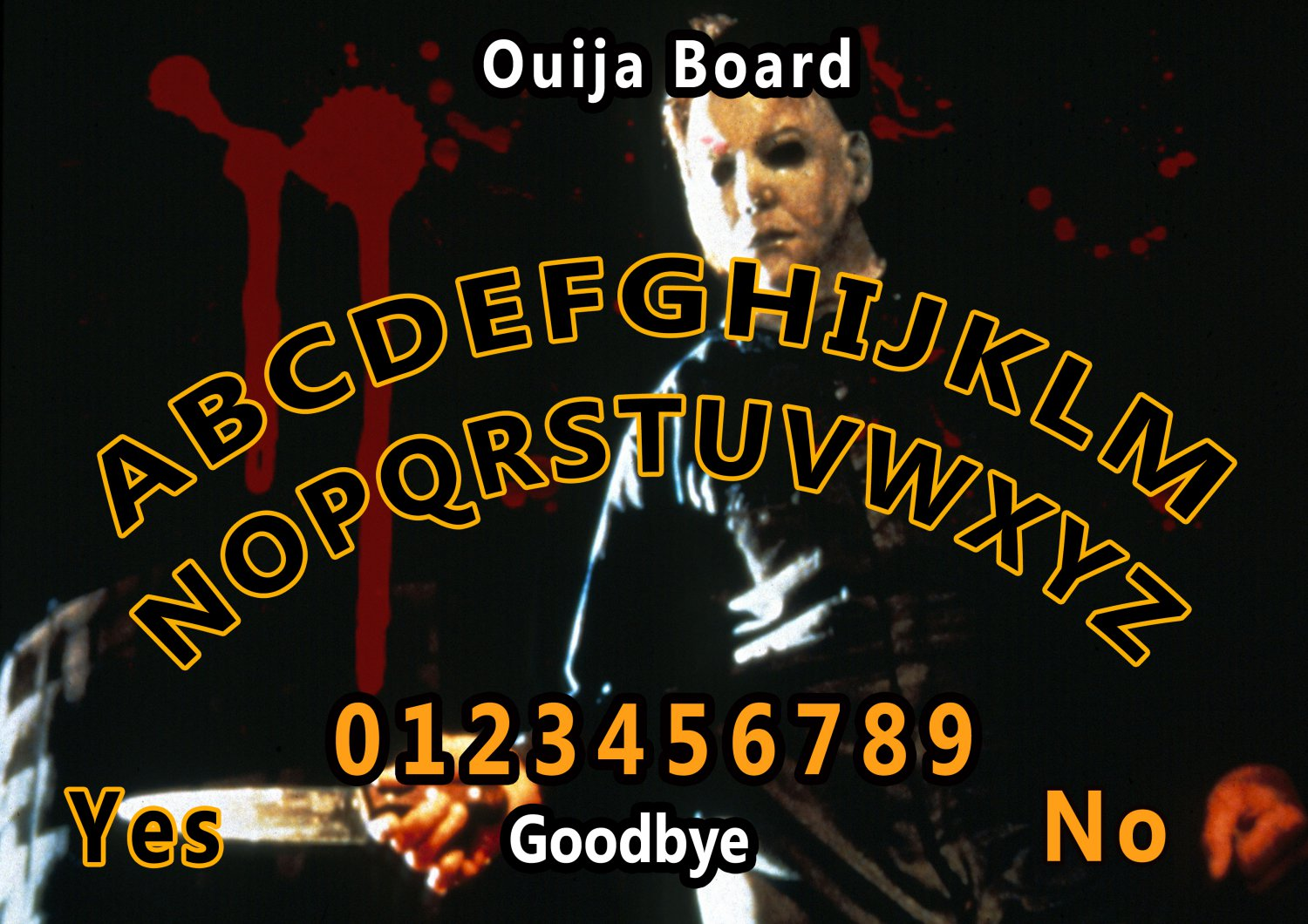 Halloween A4 Laminated Ouija Board / Poster | Ghost Hunting | EVP | Seances. Free UK shipping
