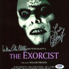 The Exorcist movie poster signed by Linda Blair & William Peter Blatty (Reprint Ref:LB15)