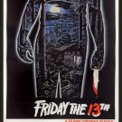 Friday The 13th (1980) One Page A4 Movie Poster | Wall Art | Horror Movie Posters (Free UK Shipping)