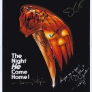 Halloween (1979) Movie poster signed by Cast of 5 Castle, Curtis, P.J Soles, Carpenter (Reprint)