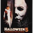 Halloween 5  Movie Poster Signed By Danielle Harris  (Reprint) Free UK Shipping
