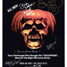 Halloween 2 (1981) movie poster signed by cast of 6 (Reprint/Great Gift Idea!)