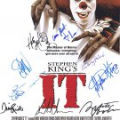 Stephen Kings IT (1990) Movie Poster Signed By cast of 11, Tim Curry (Reprint/Great Gift Idea!)