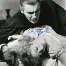 """Christopher Lee 8 X 10"""" Autographed photo Dracula / Lord of The Rings / Sleepy Hollow (Reprint :555)"""