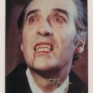 """Christopher Lee 8 X 10"""" Autographed photo Dracula / Lord of The Rings / Sleepy Hollow (Reprint :558)"""