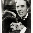 Christopher Lee Dracula A.D 1972 Autographed photo (Reprint :560) Great Gift Idea