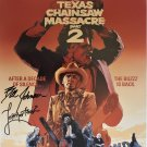 Texas Chainsaw Massacre 2 Movie poster signed by Bill Johnson  (Reprint:2396)