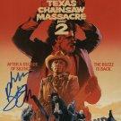 Texas Chainsaw Massacre 2 Movie poster signed by Bob Elmore (Reprint 500)