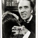 Christopher Lee Dracula/ I, Monster, Sleepy Hollow Signed / Autographed Photo (Reprint 520)