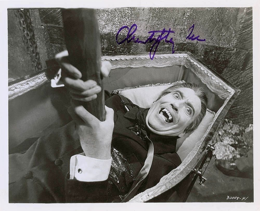 Christopher Lee Dracula / I, Monster, Star Wars, Signed / Autographed Photo (Reprint 522)