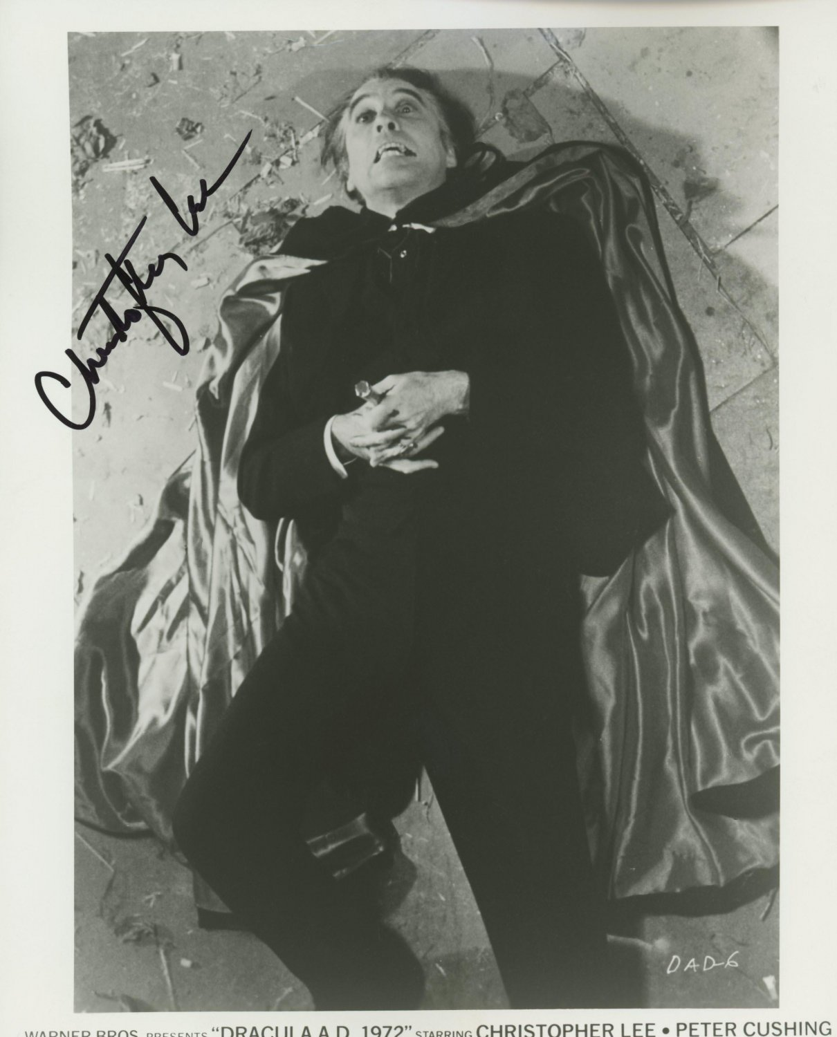 Christopher Lee Dracula / I, Monster, Lord of The Rings , Signed / Autographed Photo (Reprint 524)