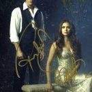 The Vampire Diaries Cast X 2 Autographed Photo Nina Dobrev & Paul Wesley (Reprint 527)