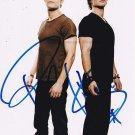 The Vampire Diaries Cast X 2 Autographed Photo Ian Somerhalder & Paul Wesley (Reprint 529)