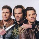 Supernatural Cast X 3 Autographed Photo Misha, Jensen Ackles  & Jared Padalecki (Reprint 531)