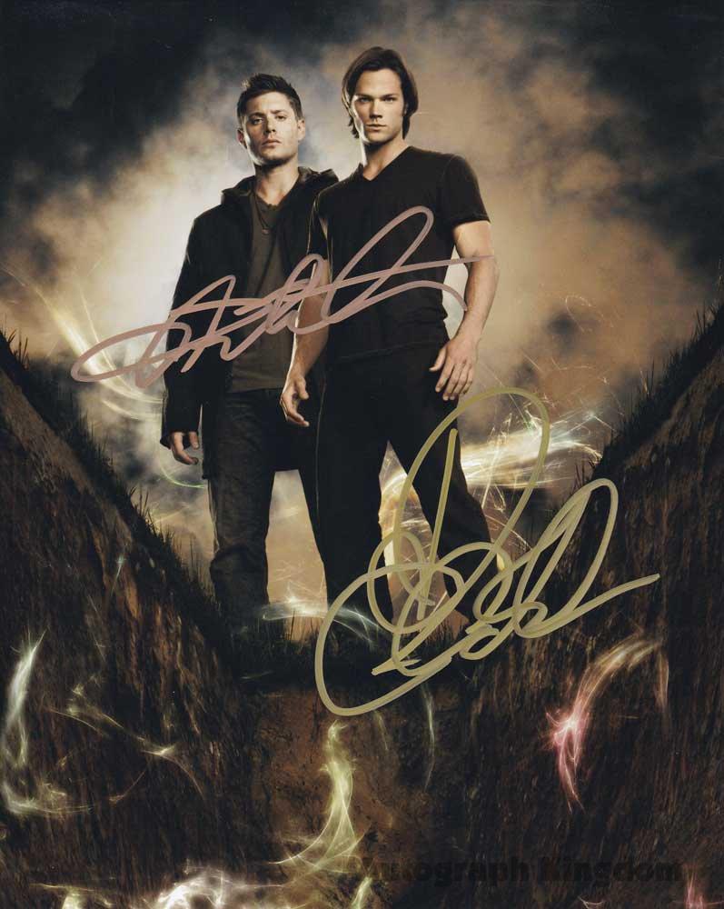 Supernatural Cast X 2 Autographed Photo Jensen Ackles & Jared Padalecki (Reprint 532)